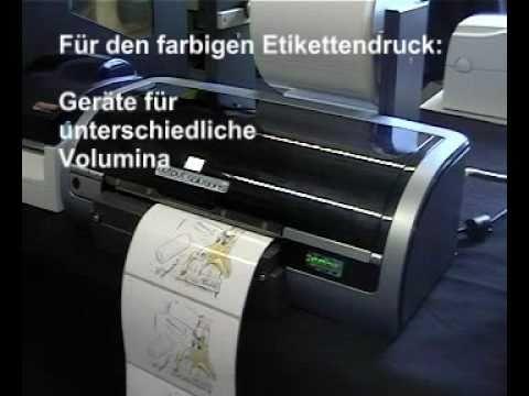 Etikettendrucker für farbigen Druck auf Etiketten