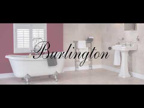 Video Burlington Arcade Single Lever Bidet Mixer with Pop-Up Waste (Chrome) - Brass Lever