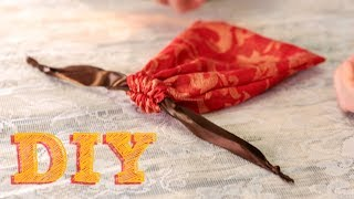 How To Make A Drawstring Gift Bag | Sewing A Simple Favor Bag | A Damsels In DIY Craft Tutorial