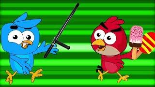 Angry Birds Stole ICE CREAM Of Birds Family😍 Birds Family Funny Pranks Compilation😍😍