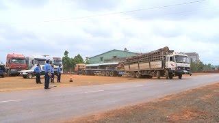 Xe quá tải, quá khổ hoành hành trên các tuyến quốc lộ ở Gia Lai