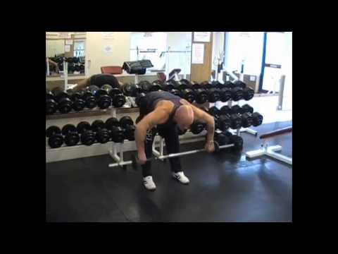 Rear Delt Barbell Row To Neck