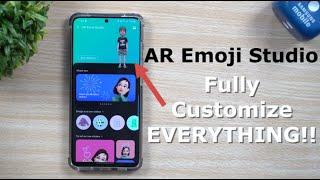 The New AR Emoji Studio | AR Zone - FULLY CUSTOMIZE EVERYTHING!
