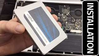 "Crucial MX500 1TB SATA 2.5"" 7mm (with 9.5mm adapter) Internal SSD Installation"