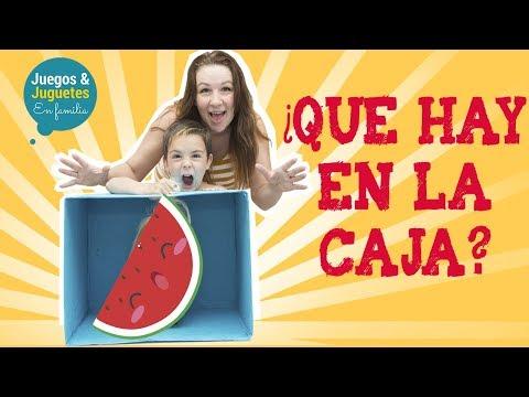 RETO ¿QUE HAY EN LA CAJA?  whats in the box CHALLENGE // Juegos y Juguetes