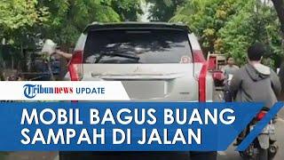 Viral Video Penumpang Pajero Buang Sampah Sembarangan di Jakarta Selatan, Perekam Hampir Ditabrak