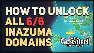 How to unlock All 6 Inazuma Domains Genshin Impact