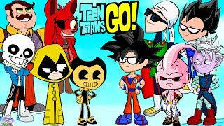 Teen Titans Go! Color Swap into Dragonball Z FNAF and Bendy Surprise Egg and Toy Collector SETC