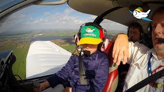 Zieke kinderen uit regio waren voor 1 dag piloot bij Hoogvliegers