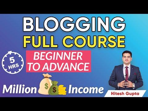 Blogging Full Course in Hindi   Blogging Tutorial for Beginners   Blog Full Tutorial Hindi   #Blog