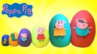 Más Pequeños A Los Más Grandes Con Los Huevos Play Doh De Peppa La Cerdita