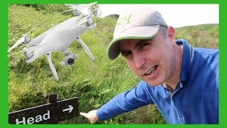Obstacle avoidance drone footage at old mans head viewpoint Co Fermanagh