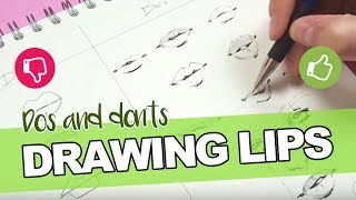 DOs & DONTS - How To Draw Mouth & Lips!【Tips, Tricks & My Technique】