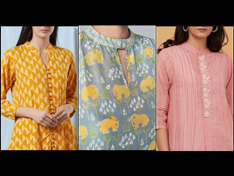 NEW TRENDY COLLAR NECKLINE DESIGNS FOR KURTIS FROCKS AND SHIRTS OF LADIES DRESSES