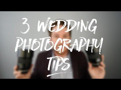 3 Wedding Photography Tips
