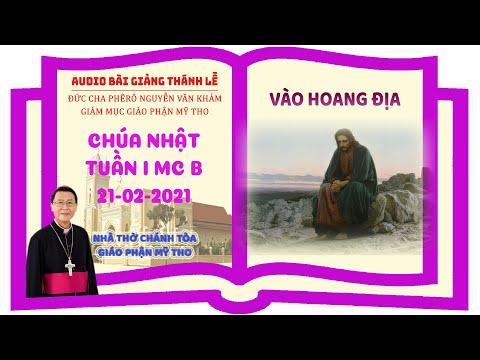 Đức Cha Phêrô suy niệm CN I MC B: VÀO HOANG ĐỊA
