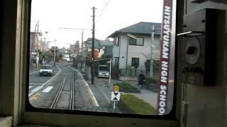 熊本電鉄 黒髪町~藤崎宮前 併用軌道