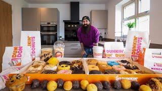 THE ENTIRE DUNKIN DONUTS MENU CHALLENGE | BeardMeatsFood