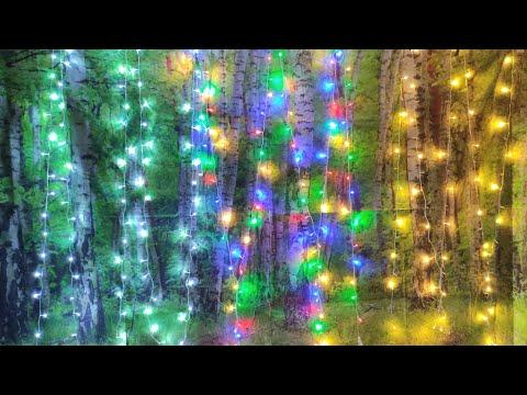 Светодиодные гирлянды с сайта AliExpress / LED string lights from AliExpress