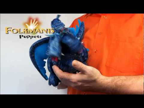 Folkmanis Blue Three-Headed Dragon Puppet