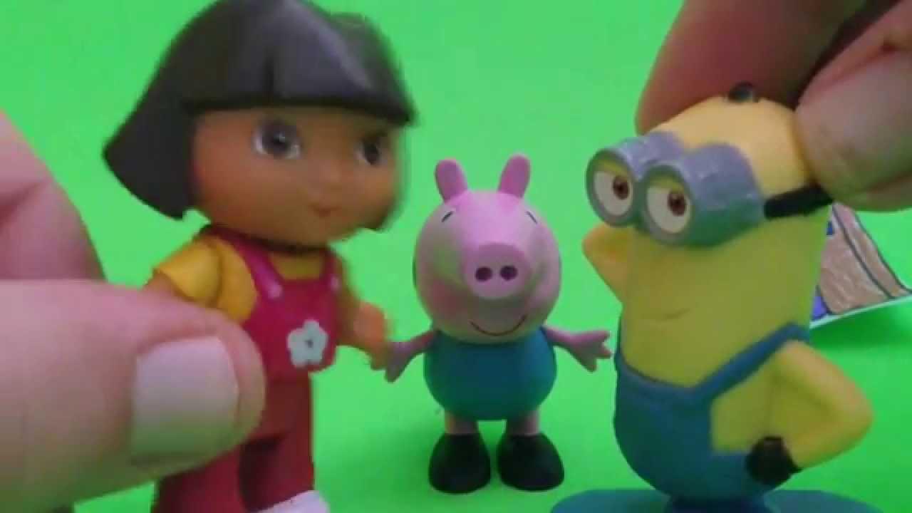 """Minion, Peppa Pig y Dora la exploradora juegan al """"Veo, Veo"""""""