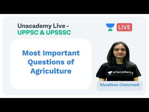 Most Important Questions of Agriculture   UPPSC & UPSSSC   Khushboo Chaturvedi