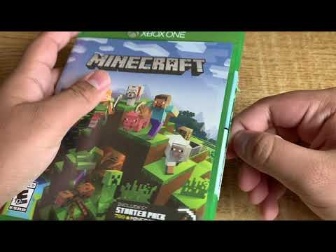 Minecraft Unboxing in 2020 (Xbox One Game) **Starter Pack Edition**
