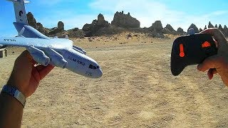 C17 Gyro Stabilized RC Airplane Part 2 Review High Rate Bank Angle Flying