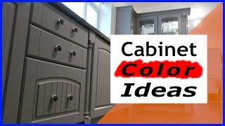 Painting Kitchen Cabinets Color Ideas - White/Green/Cream/Black/Grey