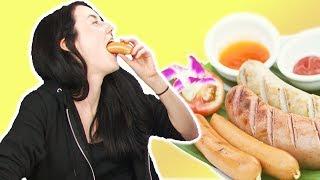 Irish People Taste Test German Sausage