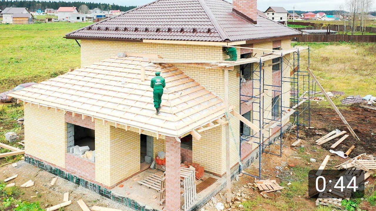 Дом с верандой и балконом 170 м2