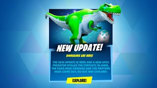 *NEW* FORTNITE DINOSAUR UPDATE OUT NOW! (RAPTORS UPDATE)