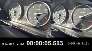 BMW e60 530xd 235Hp acceleration before and after stage1+ remap