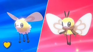Ribombee  - (Pokémon) - HOW TO Evolve Cutiefly into Ribombee in Pokemon Sword and Shield