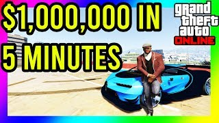 GTA 5 - HOW TO MAKE OVER $1,000,000 IN LESS THAN 5 MINUTES!!! SOLO NO REQUIREMENTS!!