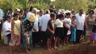 Cook Islands Burial Tautu - Aitutaki June 2013 Papa Mata Paerau ( A.K.A. Te Koroko )