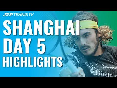 Federer /u0026 Djokovic Impress; Medvedev, Tsitsipas Battle Through | Shanghai 2019 Day 5 Highlights