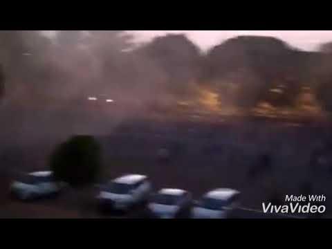 PARAH!!!! LAGA PSIM VS PERSIS  MOBIL POLISI DI BAKAR