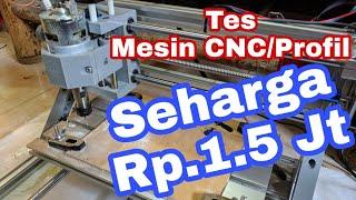 First Test 100$ 3018 CNC Machine Drilling ,cutting