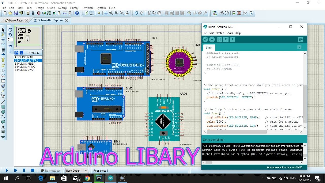 Arduino Circuit Design By Using Proteus 7professional Software And