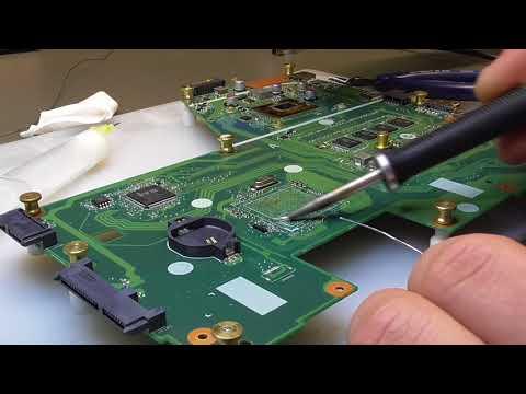 Ремонт залитого ноутбука - как это делаем мы.