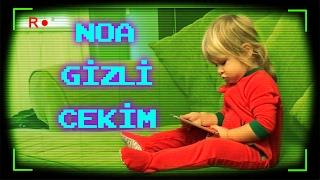 Noa' ya Kendini İzlerken Gizli Çekim | Bizim Aile Eğlenceli Çocuk Videoları