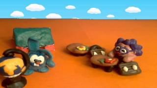"""Пластилиновый мультфильм - """"Смешарики в школе"""""""