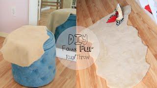 No Sew Faux Fur Throw/Rug
