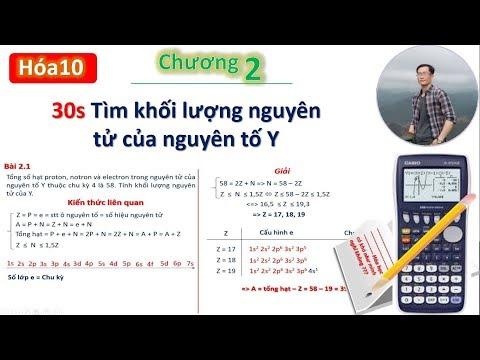 ✔ Hóa10  PP tìm nhanh khối lượng nguyên tử Y (chương 2: Định luật tuần hoàn)