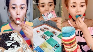 Eating ATM Cards Made From Candy And Paper Of Cupcakes