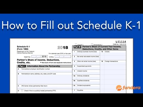 How to Fill out Schedule K-1 (IRS Form 1065)