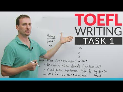 TOEFL Writing – Task 1