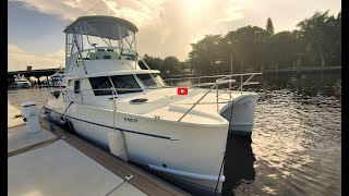 Walkthrough of a 2003 Fountaine Pajot Greenland 34 Ghost Power Catamaran for Sale