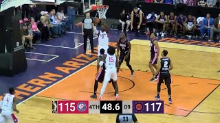 Angel Delgado Posts 19 points & 15 rebounds vs. Northern Arizona Suns